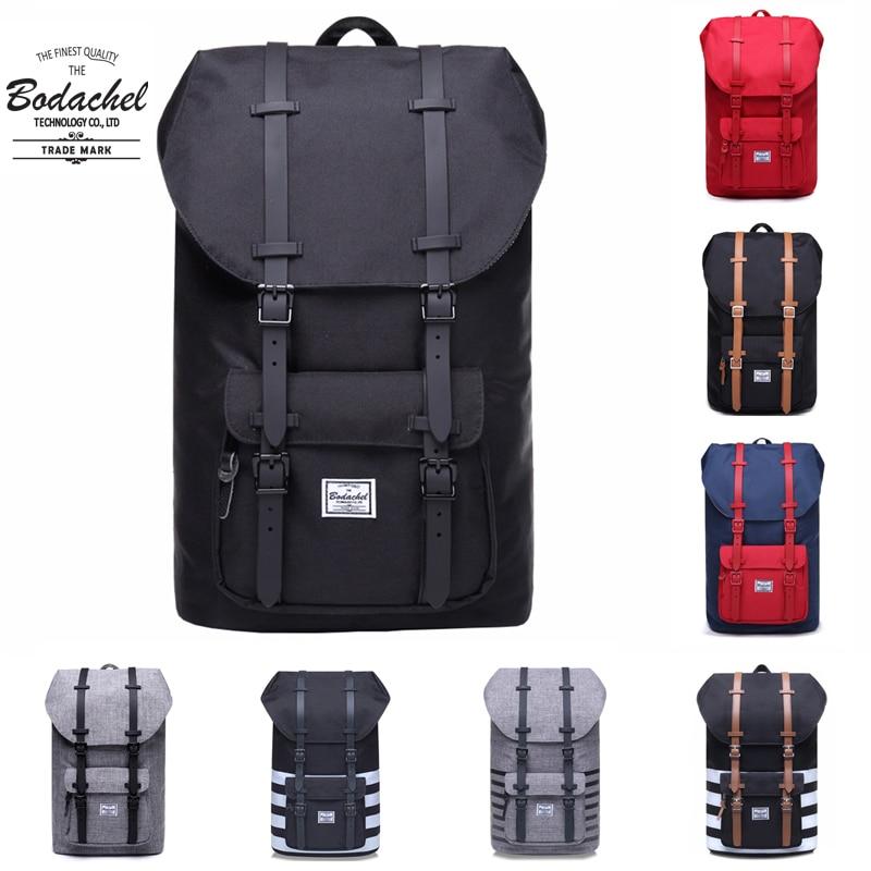 Bodachel Backpack Little America Male Bag School Bagpack Large Capacity Computer Laptop Rucksack 24l Style Knapsack Mochila