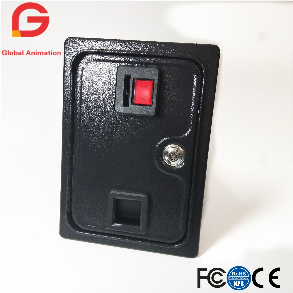 36*23*56cm 25 cents Arcade Coin Door With Quarter Acceptor For MAME or Arcade Replacement Iron Door Construction