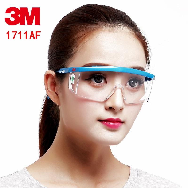 2PCS 3M 1711AF protective goggles Genuine security High Quality safety glasses anti-UV Anti-fog Anti-scratch glasses safety недорго, оригинальная цена