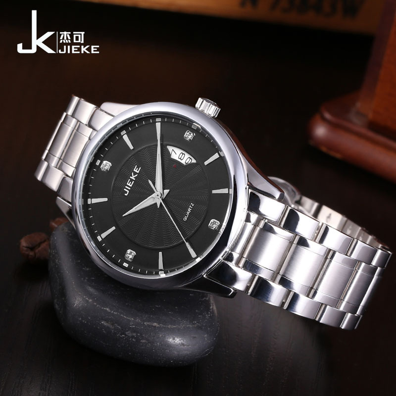 FOTINA Top Brand JK Watch Men Stainless Steel Reloj Luminous Hours Clock Casual Quartz Dress Watch