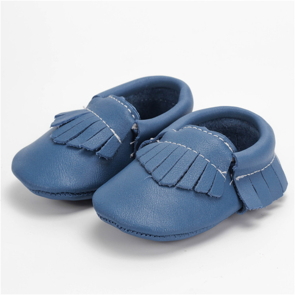 SDMOCCS Brand 1 Pair Send New Handmade Genuine Leather baby Fringe boots baby moccasins  ...