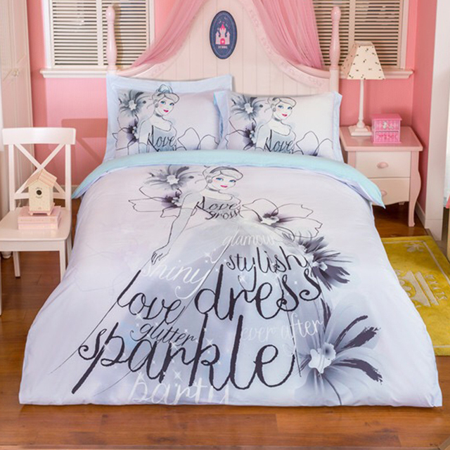 100% Cotton Disney Bedding Sets Twin Queen Size Quilt Cover Duvet Cover Bed  Cover Flat