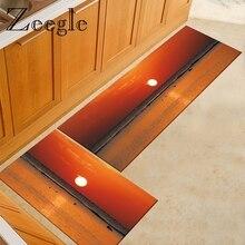 Zeegle Scenic Kitchen Mats Anti-slip Area Rug for Living Roo
