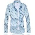 Camisa A Cuadros informal Camisa de Los Hombres de Moda Slim Fit hombres Otoño y Primavera Mujer Camisas de Algodón de Manga Larga Ropa de Los Hombres, más tamaño 6XL