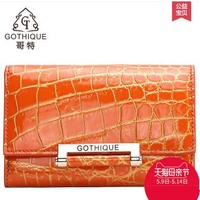 gete 2018 hot new Siamese crocodile skin belly short women wallet 24 k gold lock buckle short wallet thirty percent women