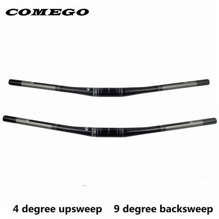 Comego pleine fiber de carbone vélo guidon barre de vtt accessoires vélo plat 31.8 * 690 / 720 mm 4 upsweep 9 du