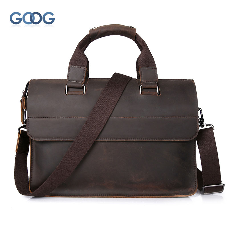Crazy horse skin retro briefcase men bag head layer of leather postman package large capacity leisure shoulder Messenger bag aetoo crazy horse skin male package leisure retro guangzhou leather men bag vertical shoulder bag oblique package men s small ba