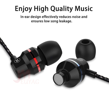 MEUYAG Professional Metal earphone In Ear Wired Earphone 3.5mm Heavy Bass Sound Quality Music Sport Headset With mic For Xiaomi 1