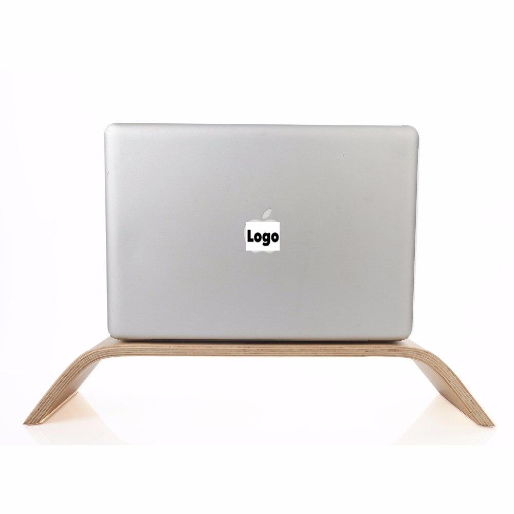 SAMDI - Laptop Birch Wood Stand Wooden Notebook Desktop Holder PC Display Riser Bracket Stand for Apple iMac Macbook Computer