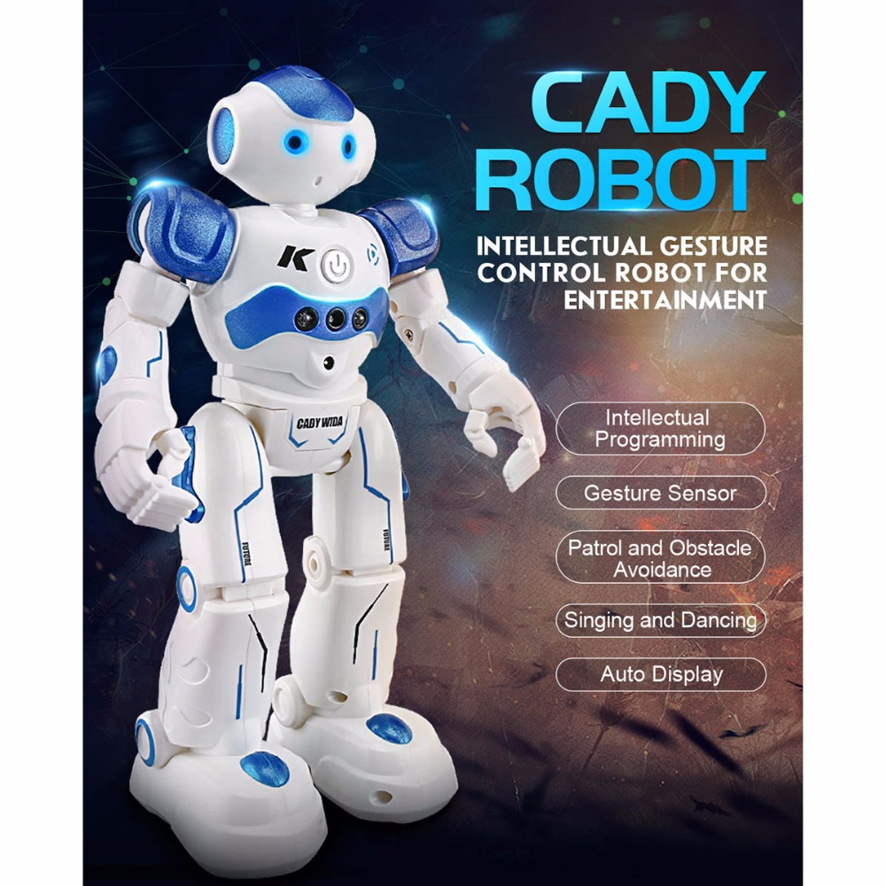 RC Robot Toy JJRC R2 USB Charging Dancing Remote Control Robot Toy Blue Pink Gesture Control for Children Kids Birthday Present jjrc r3 rc robot toys intelligent programming dancing gesture sensor control for children kids f22483 f22483