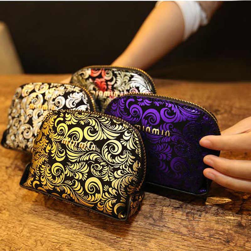 Винтажный Модный кошелек из искусственной кожи, Сумка с цветочным узором, сумки для женщин, маленький держатель карточек, кошелек, женские сумки, кошельки, кошельки