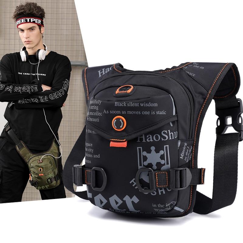 Men Military Assault Oxford/Nylon Shoulder Messenger Fanny Bag Waterproof Motorcycle Rider Male Hip Bum Belt Waist Pack Leg Bags