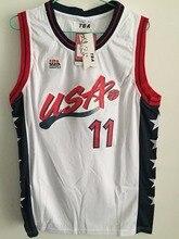 128d0bb1218 Pinterest Utah jazz 2017 New Karl Malone 11 The Mailman USA White Retro  Throwback Stitched Basketball Jersey Shirt ...