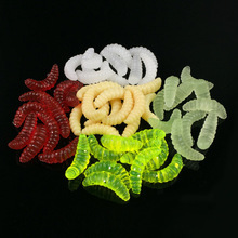 1PC 0.5g 2.4cm Tender Shrimp Fishing Lure Isca Synthetic Plastic Tender Silicone Fishing Deal with Swim Bait Colourful leurre souple