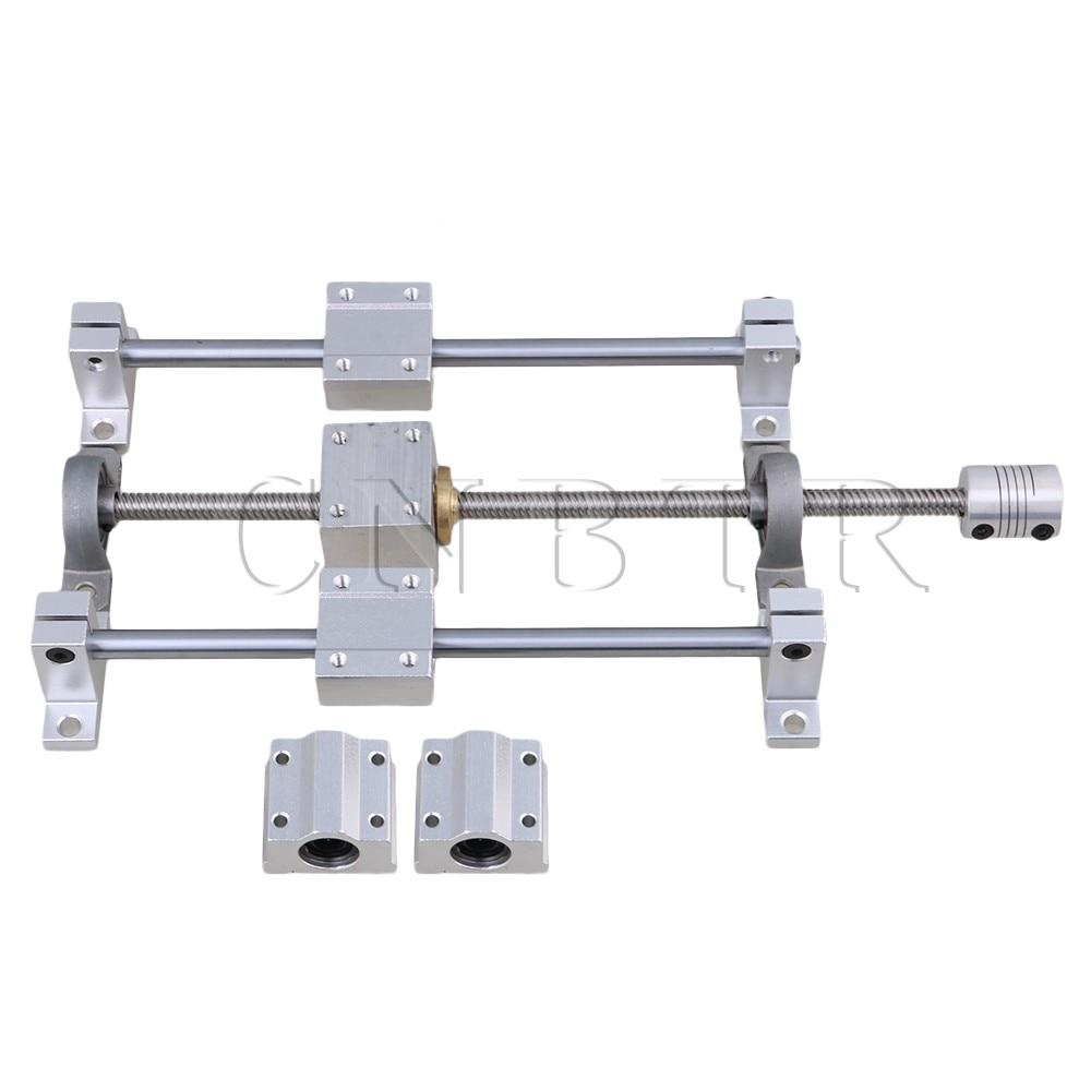 CNBTR T8 Horizontal Dual Rails 200mm Optical Axis & 250mm 8mm Lead Screw Set CNBTR T8 Horizontal Dual Rails 200mm Optical Axis & 250mm 8mm Lead Screw Set