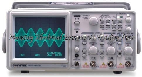 GOS-6051 Gwinstek à arrivée rapide 50 MHz, Oscilloscope analogique à 2 canaux avec mesure du curseur et compteur de fréquence