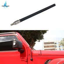 Car Antenna For Jeep Wrangler JK JKU 2007 2018 JL JLU 2018 2019 Black Rubber Aerials Mast AM FM Reception Amplifier