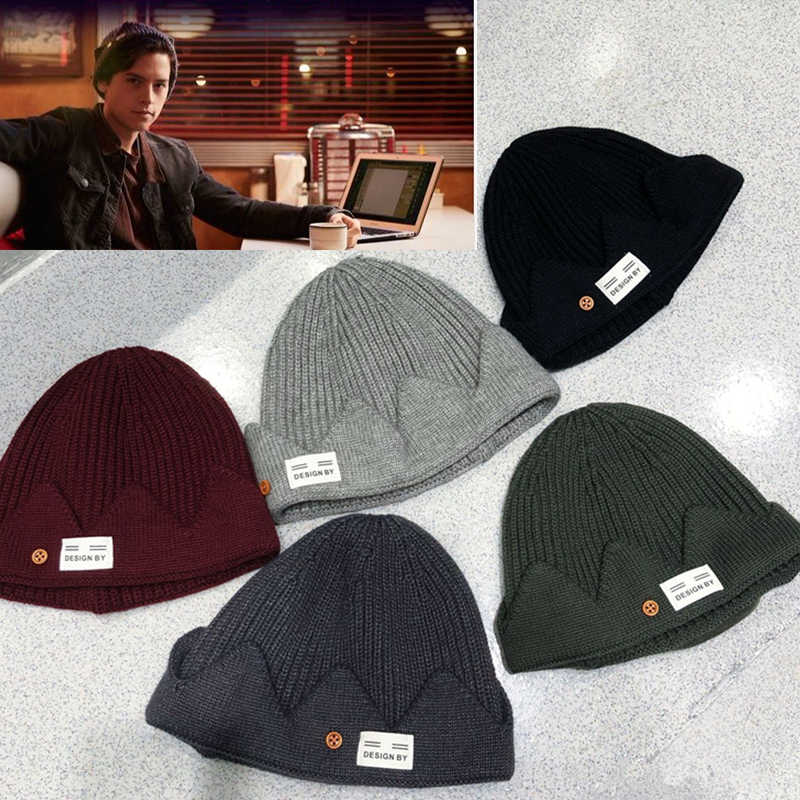 New Riverdale Jughead Jones Cosplay Beanie Hat Crown Knitted Cap