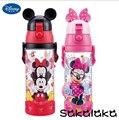 600 ml BPA Disney saludable libre de paja a prueba de fugas 3D Mickey Minnie de la historieta niños camping botellas de agua