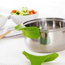 Gadget Bowls Funnel Leak-Proof-Tools Kitchen And Rim 1pcs Silicone Pots Pans Color-Random