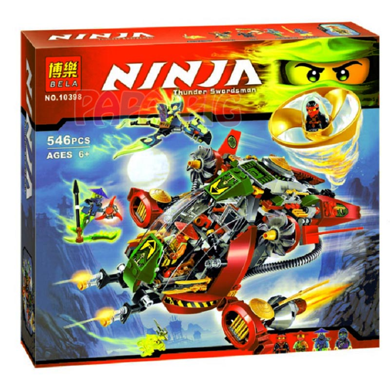 BELA 10398 Ninja Ronin R.E.X 70735 Building Block Model Educational Toys For Children gift
