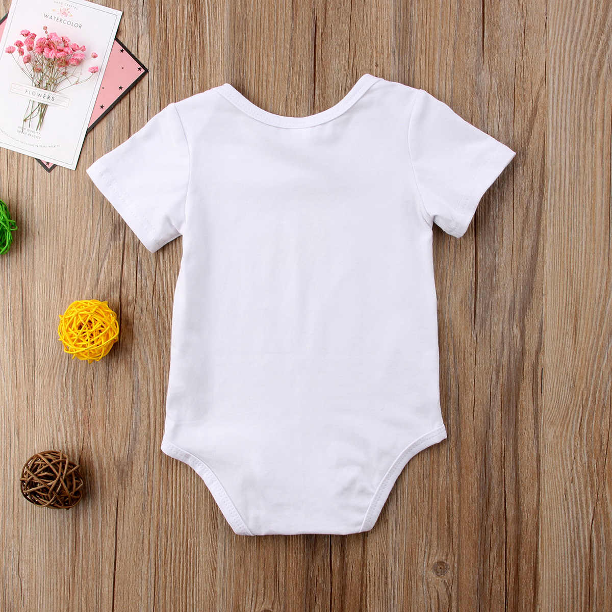 2018 хлопковый костюм с короткими рукавами для новорожденных мальчиков и девочек, комбинезон с ламой, Повседневная летняя белая одежда