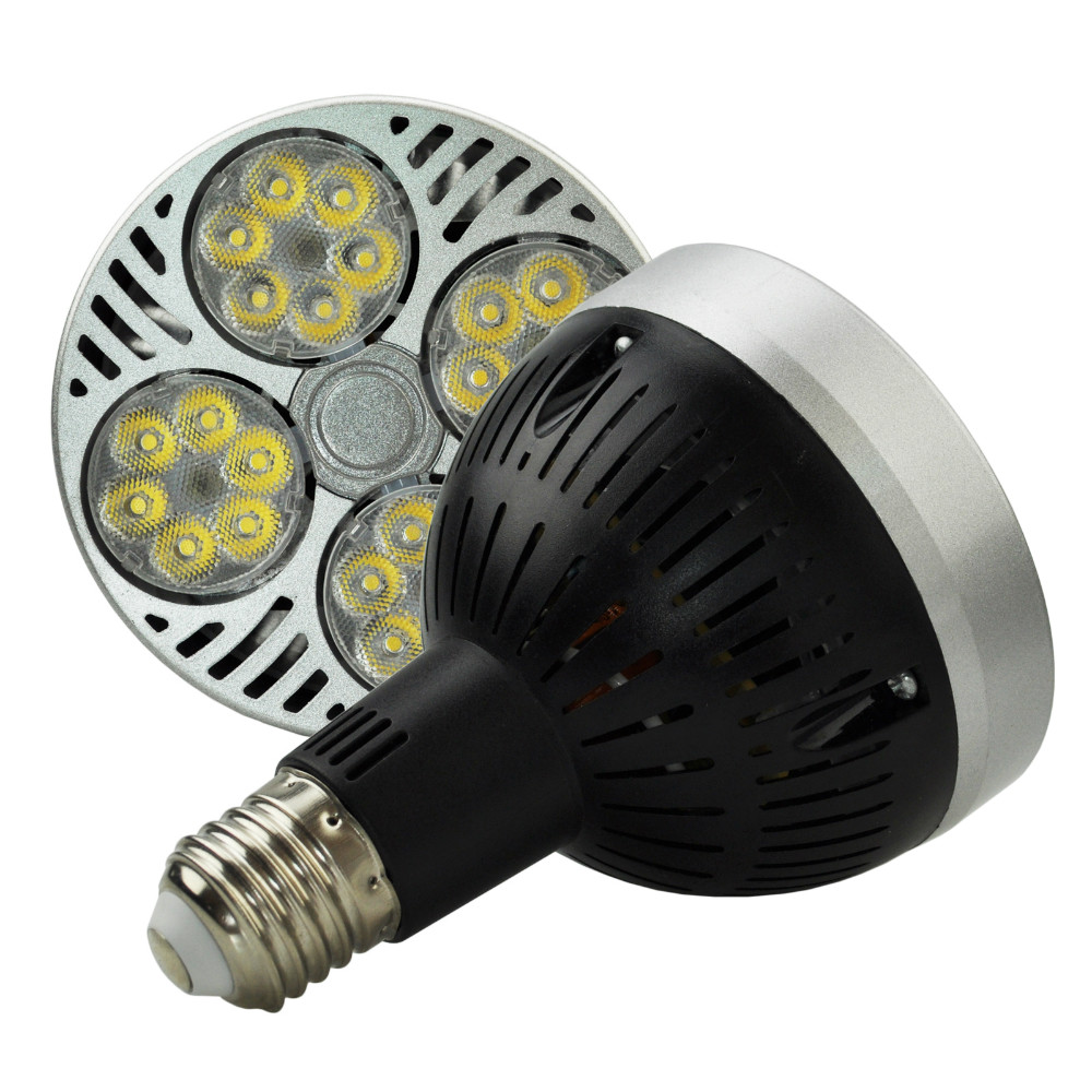 1pcs/lot Ultra Bright Osram E27 PAR30 35W, 24 led spotlight bulb,led track light AC85-265V led e27 par30 lamp bulb par30 35w e27 led spotlight light lamp led spot light e27 led lights dimmable bulb replace metal halide lamp