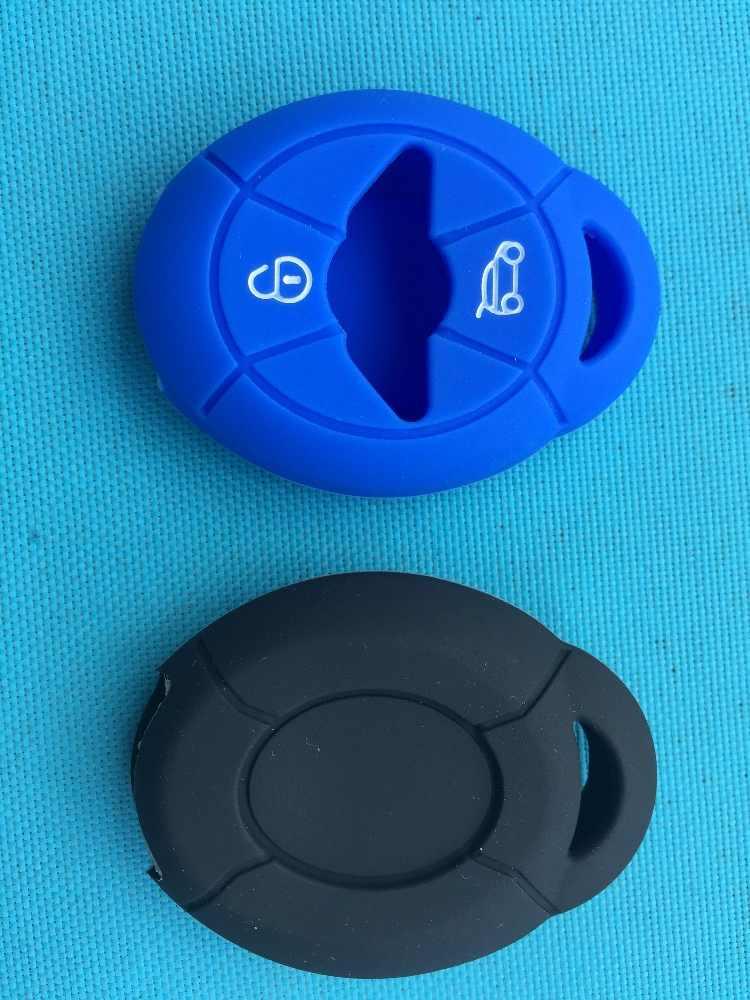 1pc silicona clave de la caja de la piel Fob cubierta para BMW Mini Cooper S R50 R53 dos botones remoto proteger estilo de coche llave en blanco