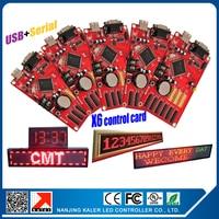kaler LED sign control card moving text USB & Serial port LED display controller KALER X6 support 96*9999pixel