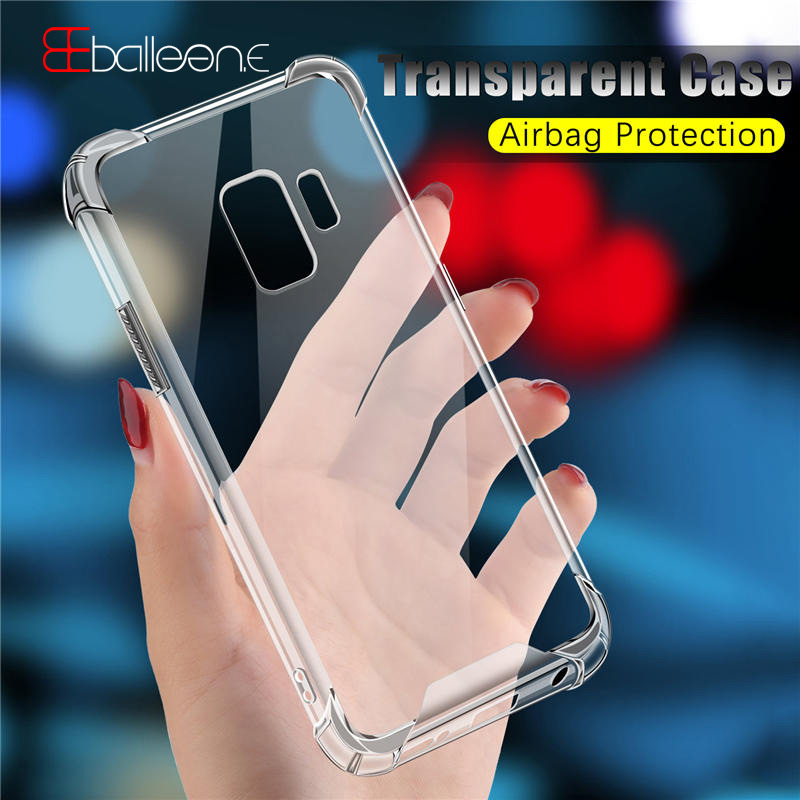 Balleen.E Phone Case For Samsung Galaxy S9 Plus Clear Airbag Protection Cases PC Back Cover For Samsung S8 Plus Note 8 S7 Edge