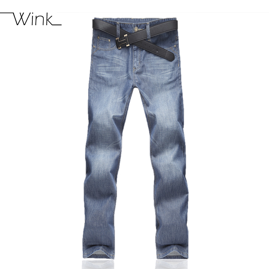New Men's Jeans Homme Denim Pants For Men Straight Brand Casual Skinny Male Slim Fit Clothes Masculino Washed Trousers Blue E484 new 2016 famous brand men jeans male pants casual stretch slim straight long man trousers jeans for men denim pants y433