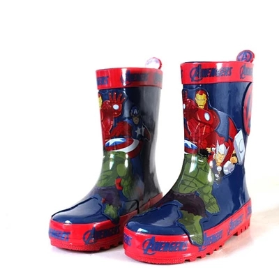 Special package mail between children's rain boots shoes cartoon water hero boy league men's shoes boots мяч баскетбольный molten bgm7 р7