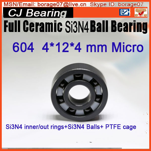 SI3N4 Ball bearing 604 4*12*4mm Full ceramic si3n4