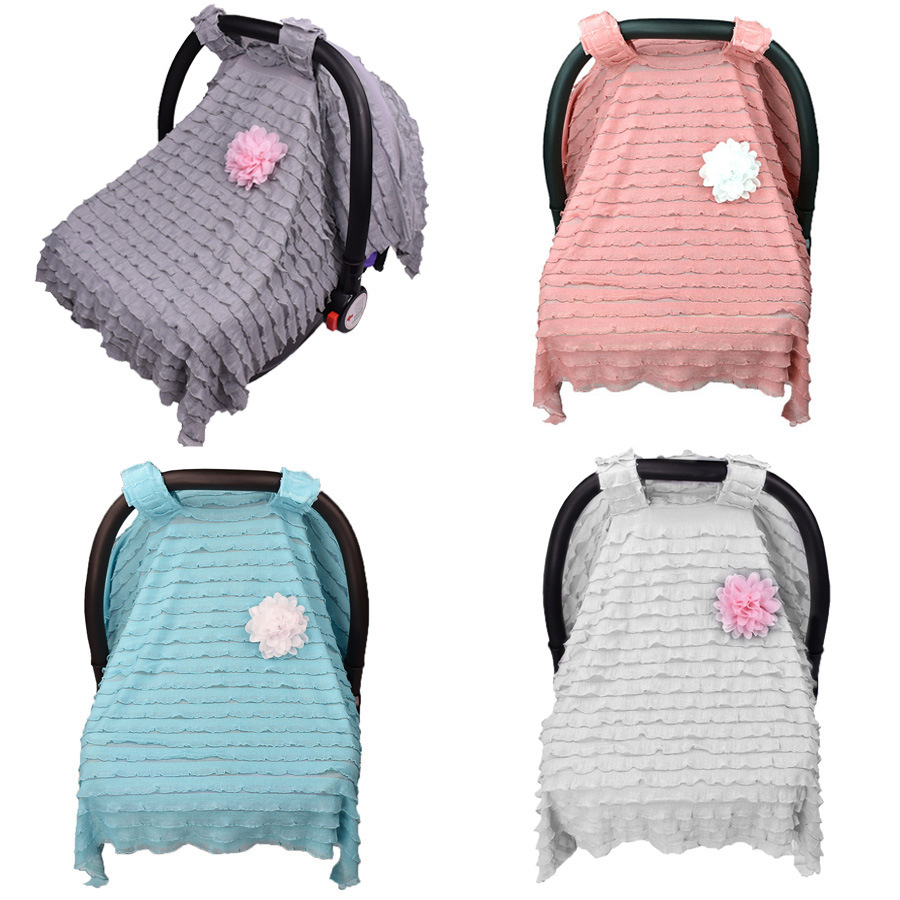 Newborn Baby Stroller Car Seat Blanket Sunshiled Sun Shade Basket Cart Cover Cradle Cape Pram Nursing Cover Stroller Accessories