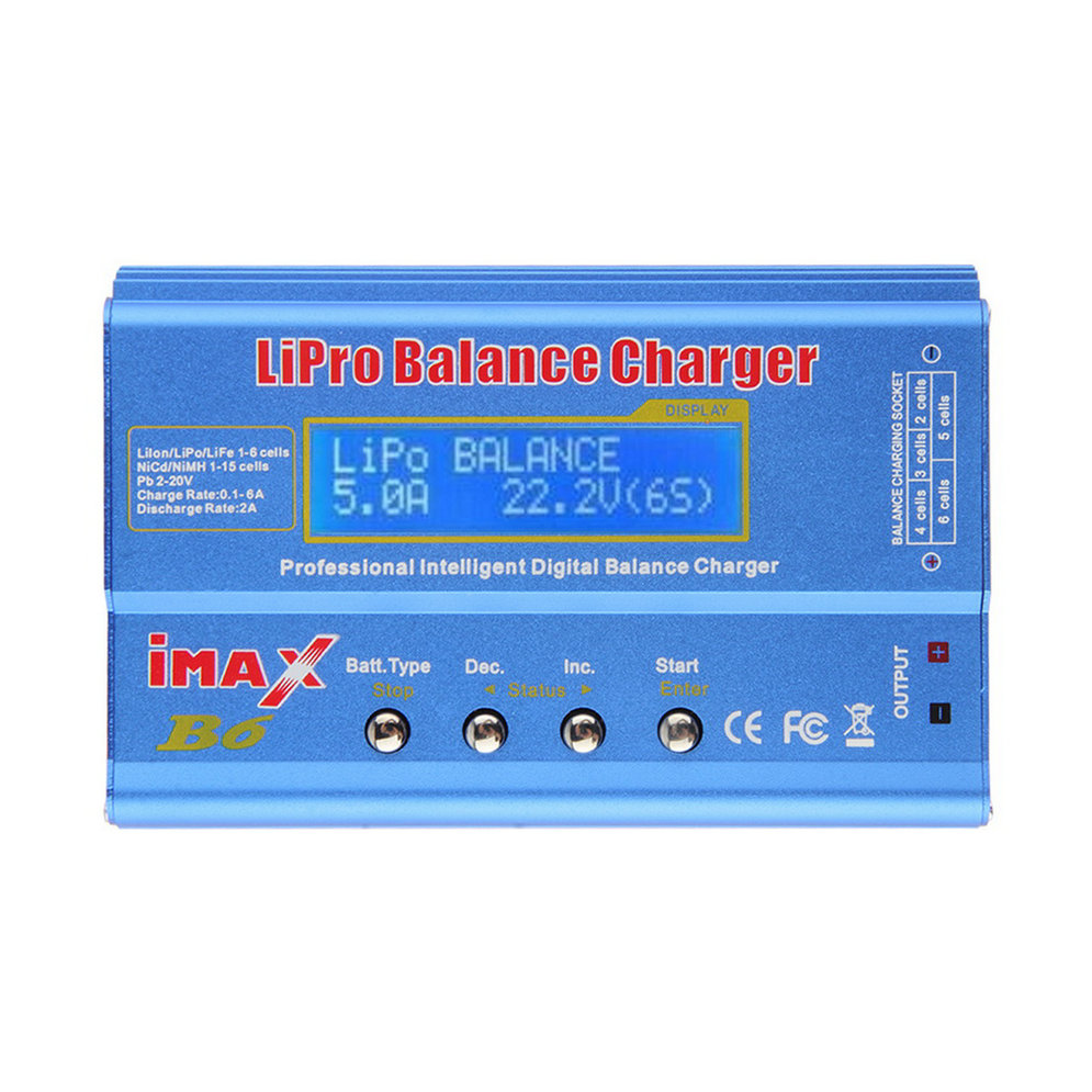 OCDAY WholeiMAX B6 Lipo NiMh Li-ion Ni-Cd RC Battery Balance Digital Charger Discharger New Sale 1s 2s 3s 4s 5s 6s 7s 8s lipo battery balance connector for rc model battery esc