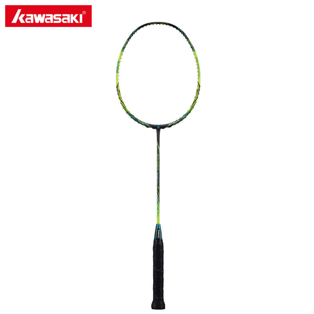 Original Kawasaki Spider 9900 II Badminton Rackets Graphite Fiber 3U Offensive Type Racket for Professional Player Racquet Gift