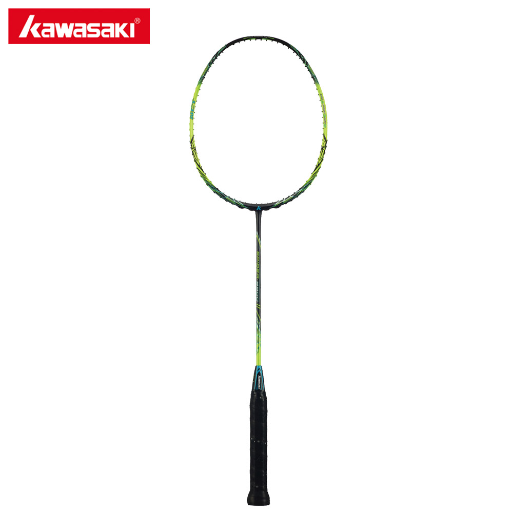 Original Kawasaki Spider 9900 II Badminton Rackets Graphite Fiber 3U Offensive Type Racket For Professional Player Racquet Gift
