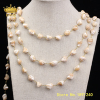 5meters Freeform Shell Beaded Chains Jewelry,Nugget Pearl Shell Beads Wire Wrapped Plated Bronze Link Shell Chain Findings ZJ382