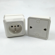 2Pcs French Standard Wall Power Socket Switch AC 250V 16A For