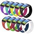 10 pcs nova chegada pulseiras de relógio preto para as mulheres e homens alça de pulso pulseira de relógio de substituição para samsung galaxy gear fit cinta