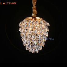 цена на Modern Mini Pineapple Shape Crystal Pendant Lamp for Restaurant Decoration Dining Room Lighting Guaranteed 100%