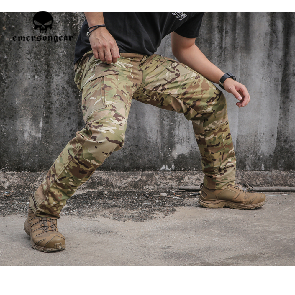 Emerson Blue Label Tactical Combat Pants Mens Cargo Ergonomic Fit Outdoor Airsoft CS Training hiking Trousers