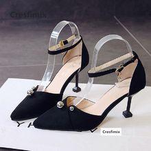 811205b7 Cresfimix mujeres lindo alta calidad flock zapatos de tacón alto señora  casual zapatos cómodos con estilo sexy novia boda c2919