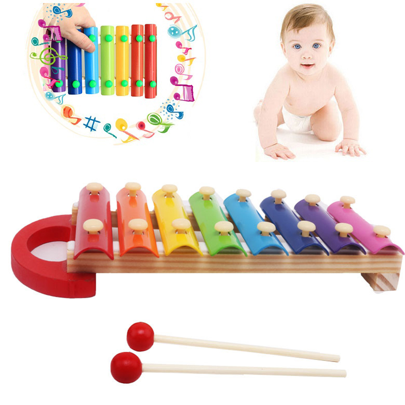 Beautiful Voice Baby Wisdom Development Musical Toys Xylophone Wooden Instrument