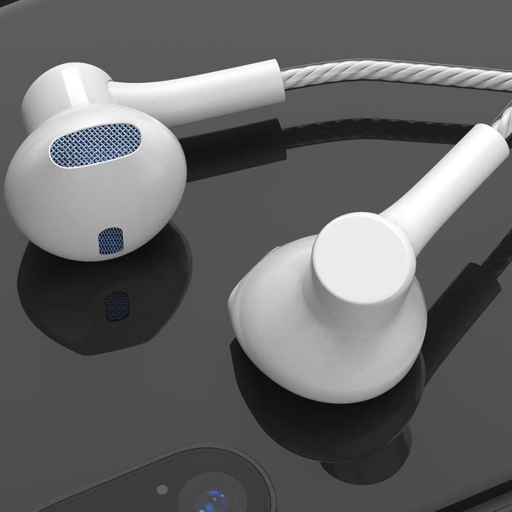 低音イヤホンヘッドフォンステレオスポーツのため電話 iPhone Xiaomi サムスン華為 MP3 3.5 ミリメートル有線イヤフォン