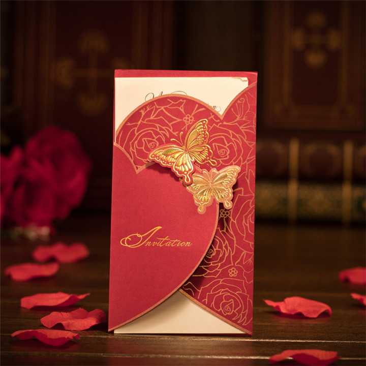 50pcs/ Lot 2015 Wedding Invitations Invitation Cards For Wedding ...
