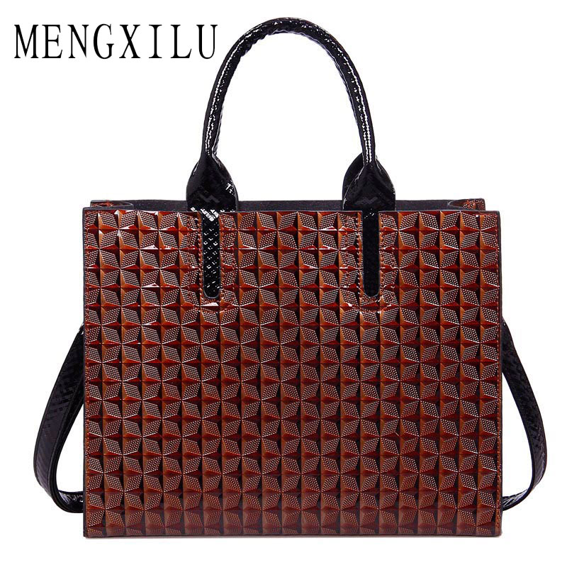 MENGXILU Leather Bags Handbags Women Famous Brand Big Women Bags Trunk Tote Spanish Brand Shoulder Bag Ladies large Bolsos Mujer new brand pu leather bags handbags women famous brands big women s casual tote bag spanish brand shoulder bag ladies bolso mujer