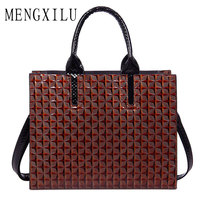 MENGXILU Leather Bags Handbags Women Famous Brand Big Women Bags Trunk Tote Spanish Brand Shoulder Bag