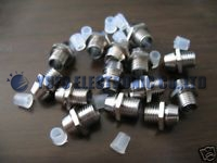 50PCS 3MM LED holder 3mm Chrome Metal LED Bezel Holder Panel Display  LED Clip F3