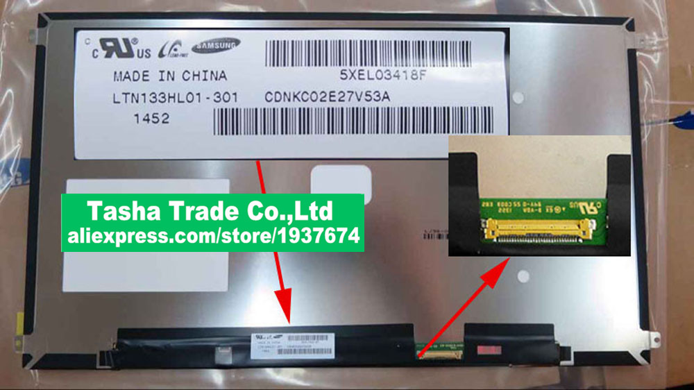 LTN133HL01-301 LTN133HL01 301 Screen LCD Screen Laptop Screen Panel Matte 1920*1080 eDP 30PINS for asus zenbook ux32a laptop screen m133nwn1 r1 m133nwn1 r1 lcd screen 1366 768 edp 30 pins good original new